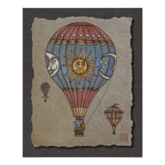 Colorful Hot Air Balloon Posters