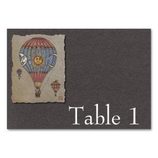 Colorful Hot Air Balloon Table Card
