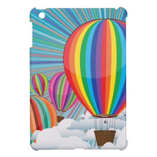 Colorful hot air balloons 2 ipad mini cases zazzle for How to make a small air balloon