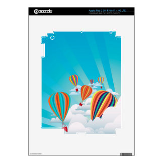 Colorful hot air balloons 2 skin for iPad 3