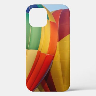 Colorful Hot Air Balloons Close Up iPhone 12 Case