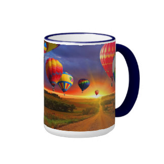 Colorful HOT AIR BALLOONS Coffee Cup Mug