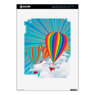 Colorful hot air balloons decal for iPad 3