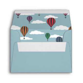 Colorful hot air balloons envelope