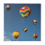 Colorful Hot Air Balloons in the Sky Ceramic Tile