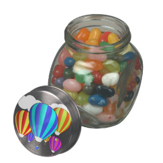 Colorful Hot Air Balloons Jelly Belly Candy Jar