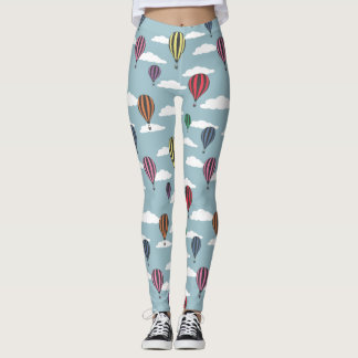 Colorful hot air balloons leggings