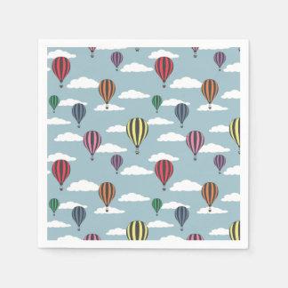 Colorful hot air balloons napkin