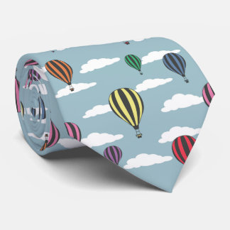Colorful hot air balloons neck tie