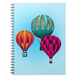 Colorful Hot Air Balloons Notebook