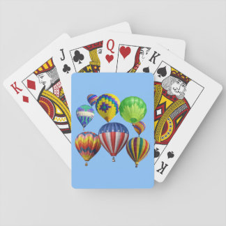 Colorful Hot Air Balloons Poker Cards