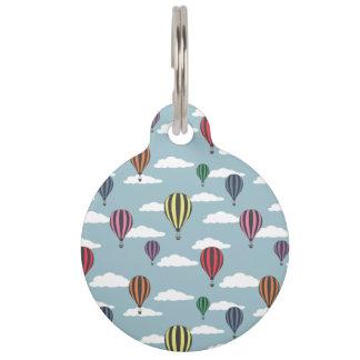 Colorful hot air balloons pet tag