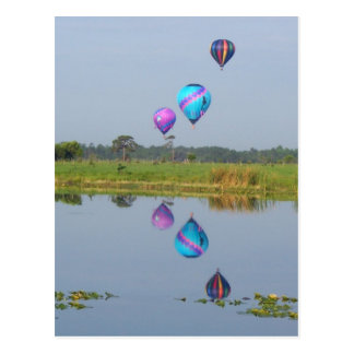 Colorful Hot Air Balloons photographic image Post Cards