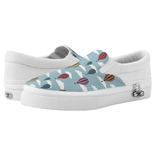Colorful hot air balloons Slip-On sneakers