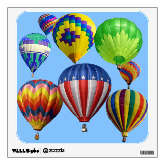 Colorful Hot Air Balloons Room Decal