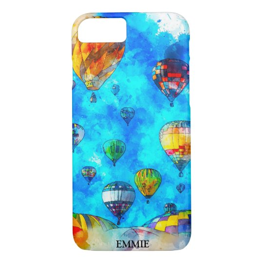 Colorful Hot Air Balloons Watercolor Painting Case Mate Iphone Case