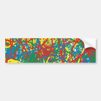 Colorful hot mess blast multi color splash rainbow bumper stickers