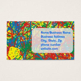 Colorful hot mess blast multi color splash rainbow business card