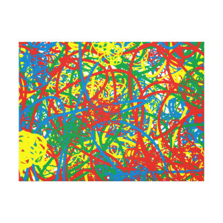 Colorful hot mess blast multi color splash rainbow canvas print