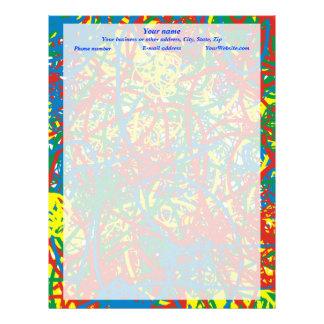 Colorful hot mess blast multi color splash rainbow letterhead
