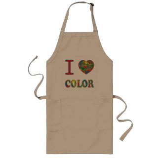 Colorful hot mess blast multi color splash rainbow long apron