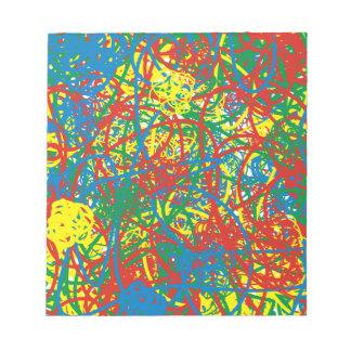 Colorful hot mess blast multi color splash rainbow notepad