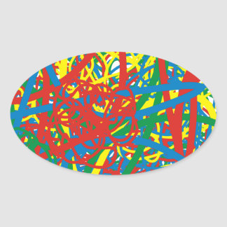 Colorful hot mess blast multi color splash rainbow stickers
