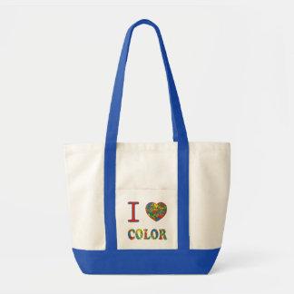 Colorful hot mess blast multi color splash rainbow tote bag