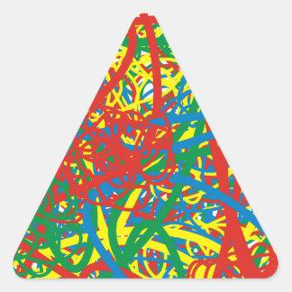 Colorful hot mess blast multi color splash rainbow triangle sticker