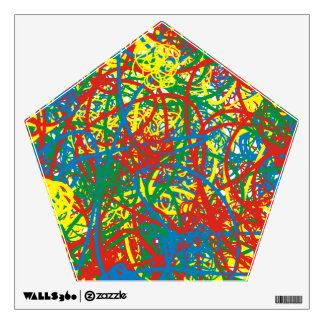Colorful hot mess blast multi color splash rainbow wall decal