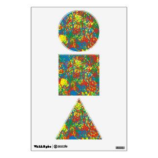 Colorful hot mess blast multi color splash rainbow wall sticker