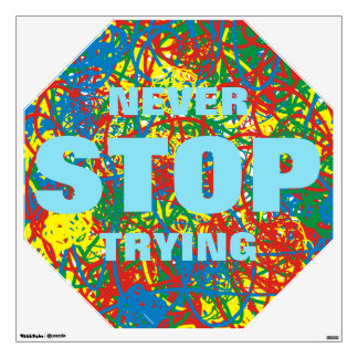 Colorful hot mess blast multi color splash stop 2 wall decal