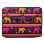 Colorful Hot Pink Orange Elephants Paisley Hearts MacBook Pro Sleeve