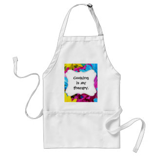 Colorful Hot Pink Teal Blue Gerber Daisies Flowers Adult Apron
