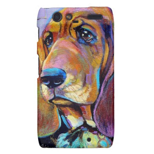 Colorful Hound Dog Droid RAZR Cover