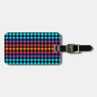 Colorful Houndstooth Tag For Bags