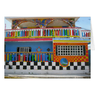 Colorful House on Isla Mujeres, Mexico Greeting Cards
