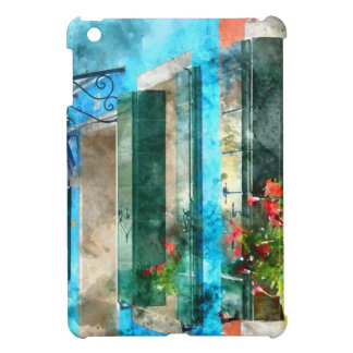 Colorful houses in Burano island Venice Italy Case For The iPad Mini