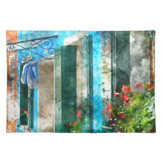Colorful houses in Burano island Venice Italy Cloth Placemat
