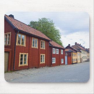 Colorful houses, Lotsgatan, Södermalm, Stockholm Mouse Pad