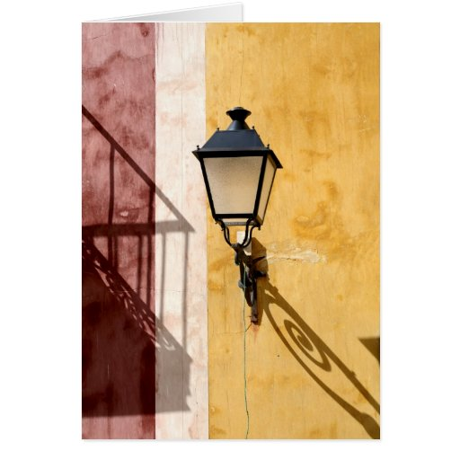 Colorful houses of Cuenca, Spain Card
