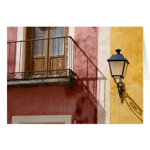 Colorful houses of Cuenca, Spain Greeting Card