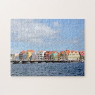 Colorful Houses of Willemstad, Curacao Jigsaw Puzzle