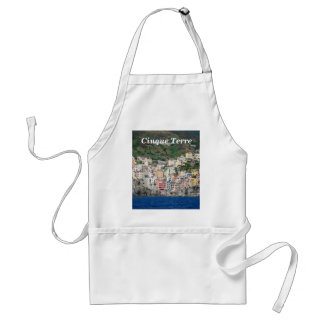 Colorful Houses on Italy Coast Adult Apron
