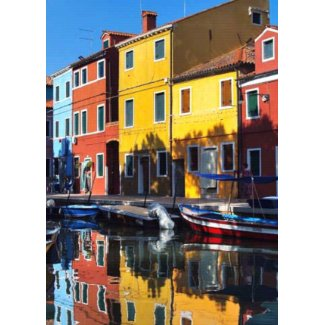 Colorful Houses on the River card