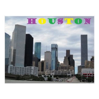Colorful Houston: Postcard