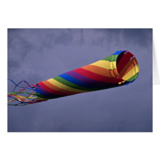 Colorful Huge and colorful windsock Greeting Card