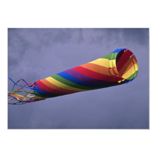 Colorful Huge and colorful windsock Custom Invitations