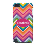 Colorful Huge Chevron Pattern with name iPod Touch 5G Case