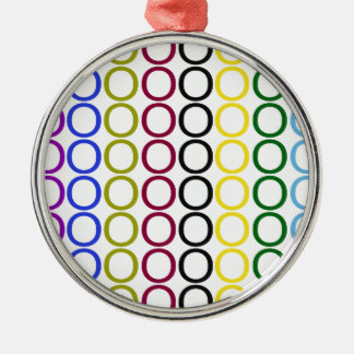 Colorful Hugs Metal Ornament